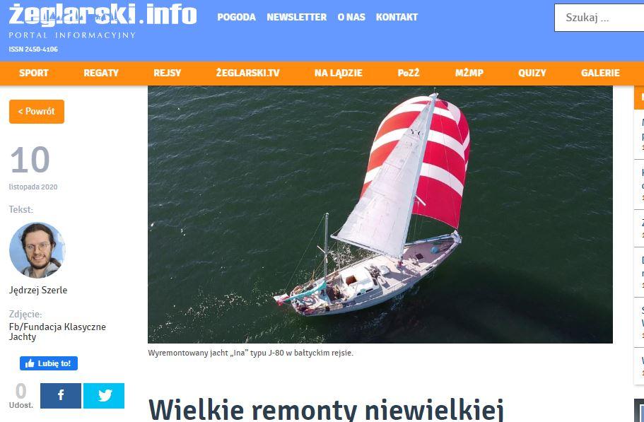 Portal żeglarski.info o fundacji